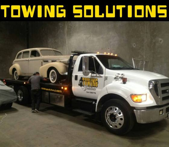 Towing Solutions - emergency flat tire change fontana