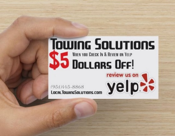 yelp discount - corona roadside assistance