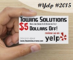 towing solutions yelp check in offer